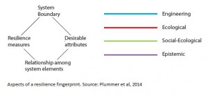 Aspects used to assess a resilience fingerprint of a case study
